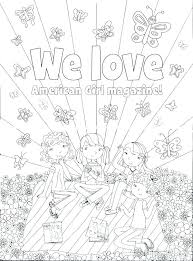 American Girl Coloring Pages To Print At Getdrawingscom Free For