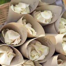 How To Make Paper Cones For Flower Petals Cones Of Petals To Throw As The Bride And Groom Leave Weddings