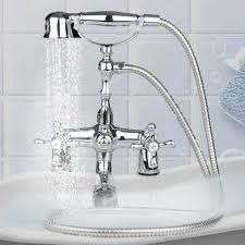 black chrome wall mounted swivel tub