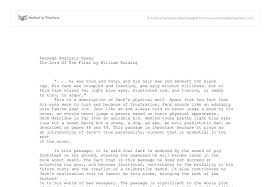 passage analysis essay the lord of the flies by william golding document image preview