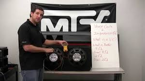 """how to wire your subwoofers to the correct impedance for your Mtx Thunder 6000 Wiring Diagram how to wire your subwoofers to the correct impedance for your amplifier youtube MTX Thunder 6000 10"""" Subwoofer"""