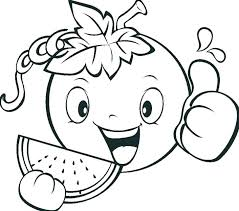 Coloring Pages Of Fruits And Vegetables For Kids Fruit And Vegetable