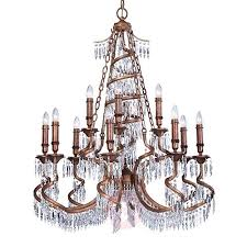 bronze coloured chandelier twisted 8532207 01