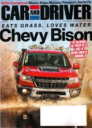Vehicle must be titled in your name with proof of current registration in vehicle, as well as. Car And Driver Magazine April 2019 Chevy Bison Amazon Com Books