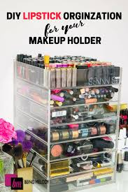 Easy DIY Lipstick Organization for Your Makeup Holder - www.beingmelody.com