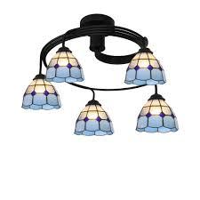 Vintage Kronleuchter Lampe Tiffany Stil Blume Farbige Glas