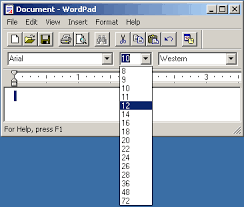 how to change text size change default font size in wordpad ask dave taylor