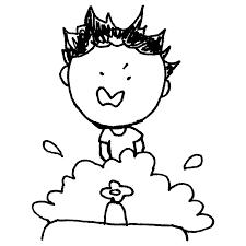 勢い良く手を洗う男の子のフリーイラスト フリーイラストクラシック