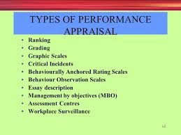 appraising and managing performance ppt types of performance appraisal