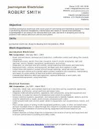 Journeyman Electrician Resume Samples Qwikresume
