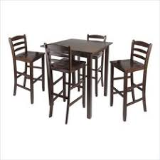 5 piece square dining set in antique walnut walnut finishpub table setspub tablesdining room setskitchen