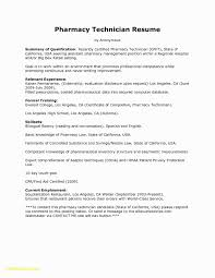 Cover Letter For Pharmacy Technician Elegant Pharmacy Technician Job