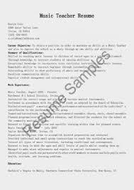 Music Teacher Resume Objective Examples Sample Music Resume Chamber Teacher Objective Examples Education 41
