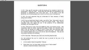 debrief of the essays from the california bar exam  debrief of the essays from the 2015 california bar exam q6 wills plus trusts