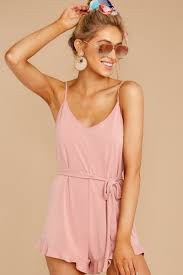 Light Pink Romper Just Checking Light Pink Romper Rompers Playsuit Rompers