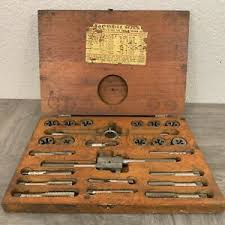 Tap And Die Set Chart Details About Vintage Henry L Hanson Ace Tap Die Set In Wood Box W Chart Used Complete