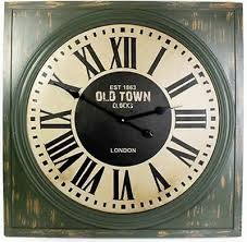 square wall clock est 1863 old town