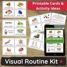 Printable visual daily routine preschool : Visual Routine Photo Cards For Daycare Preschool