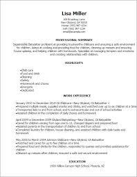 Babysitter Resume Objective Mesmerizing Babysitting Resume Examples Elegant Professional Babysitter Resume