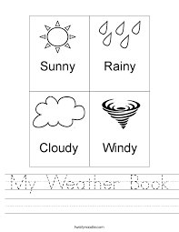 Weather Worksheet For Preschool Worksheets for all | Download and ...