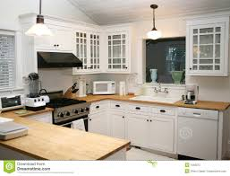 white country kitchen with butcher block. Beautiful Country White Country Kitchen Inside With Butcher Block A