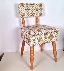 vintage wooden sewing chair with storage seat