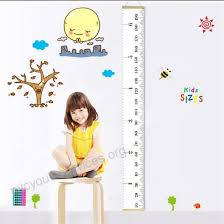 Baby Height Wall Chart Fixget Baby Height Growth Chart Roll Up Canvas Hanging