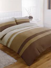 KING SIZE DUVET SET Natural brown tan striped king size quilt ... & KING SIZE DUVET SET Natural brown tan striped king size quilt cover bed set Adamdwight.com
