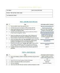 Employee Exit Interview Checklist Interview Checklist Template Exit Interview Report Template Format