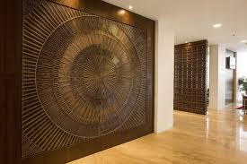Small Picture Feature wall in Bonded Bronze with Dark Patina and Solstice