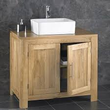 alta 90cm freestanding solid oak double door cabinet sink bathroom vanity unit