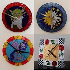 glass painting clocks and doors