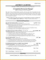 Resume Sample Restaurant Supervisor Restaurant Manager Resume