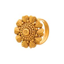 Traditional Ring Designs In Gold Jfl Traditional And Ethnic One Gram Gold Plated Floral