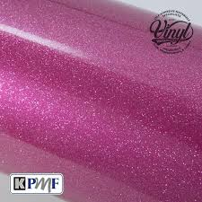 pink heavy glitter metal flake vinyl professional cast vehicle wrap k75152