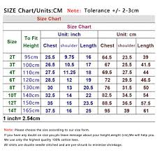 Boy T Shirt Size Chart Arts Arts