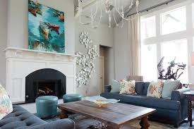 fireplace wall decor living room beach style with nantucket