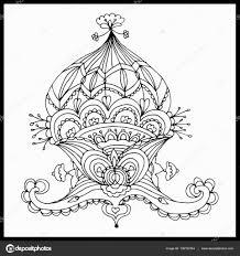 Mooi Abstract Floral Design Kleurplaat Boeken Anti Stress Voor
