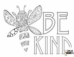 Coloring journal & postcards for only $5 ! 6 Free Be Kind Printable Coloring Pages Stevie Doodles
