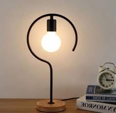 Desk Lamp Light Bulb Size Retro Light Modern Minimalist Wrought Iron Led E27 Desk Lamp