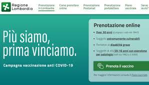 Aperte le prenotazioni del vaccino anti Covid-19 per i trentenni in  Lombardia - Prima Treviglio