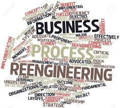 Abstrakt Wort Wolke Für Business Process Reengineering Mit