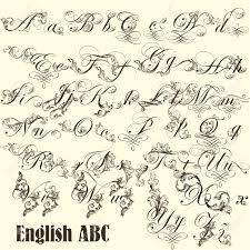 Letters In Design Decorative English Letters For Design Calligraphic Vector