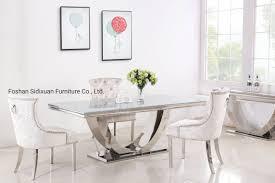 Modern Simple Design Hot Item Modern Simple Design Home Furnishing Dining Room Furniture U Shape Base Dining Table