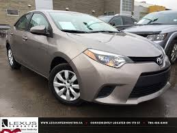 Used Brown Sugar 2014 Toyota Corolla CVT LE Review | Bonnyville ...