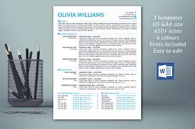 Modern Resume Template Light Blue Microsoft Word Free Download