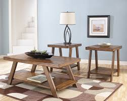 Three Piece Living Room Table Set Bradley 3 Piece Coffee Table Set By Ashley Home Gallery Stores