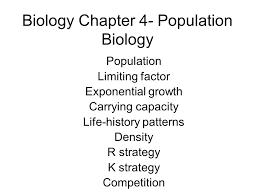biology chapter 4 population biology