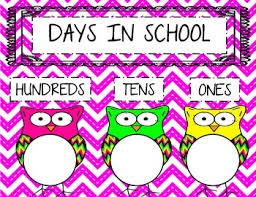 Days In School Chart Owl Theme