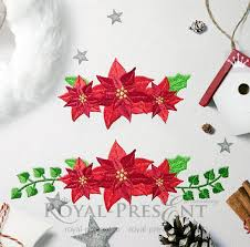 Poinsettia Designs Machine Embroidery Designs Poinsettia Christmas Star By
